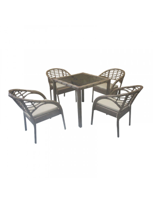 1TABLE 4CHAIRS RATTAN 1390-990