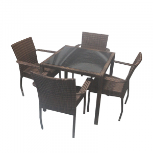 1TABLE 4CHAIR RATTAN 631-209 CO