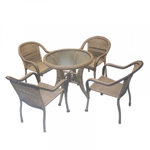 1TABLE 4CHAIRS RATTAN 1286 A+4B